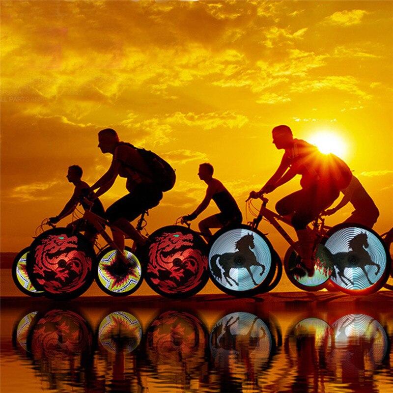 Led USB Rechargeable Bicycle Light Bike <font><b>Wheel</b></font> Spokes Cycling <font><b>Lamp</b></font> Waterproof Programmable DIY Light