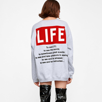 Letter Print Women Gray Sweatshirt 2018 Autumn Winter Casula Female Harajuku Sweatshirt Ladies Korean Hoodies Crop Top Plus Size