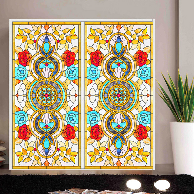 Drawing Glass Window : Glass ceiling film dome colored drawing window