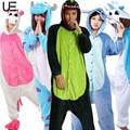 Comercio al por mayor de la Panda Stitch Unicorn Unisex Franela Con Capucha Pijamas Traje Cosplay Animal Bodies Pijamas Para Adultos Mujeres Hombres