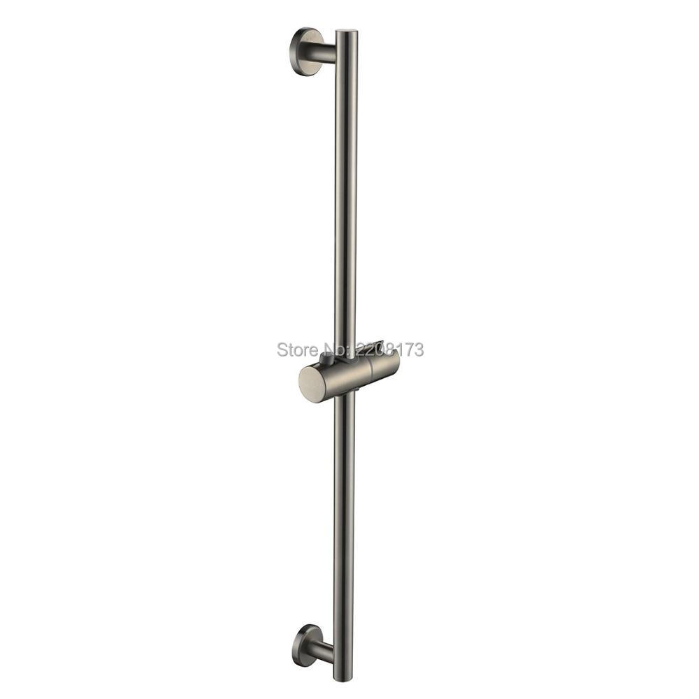 Smesiteli High Quality Promotions SUS304 Stainless Steel Bathroom Shower Slide Bar Wall Mount Brushed Nickel Finish