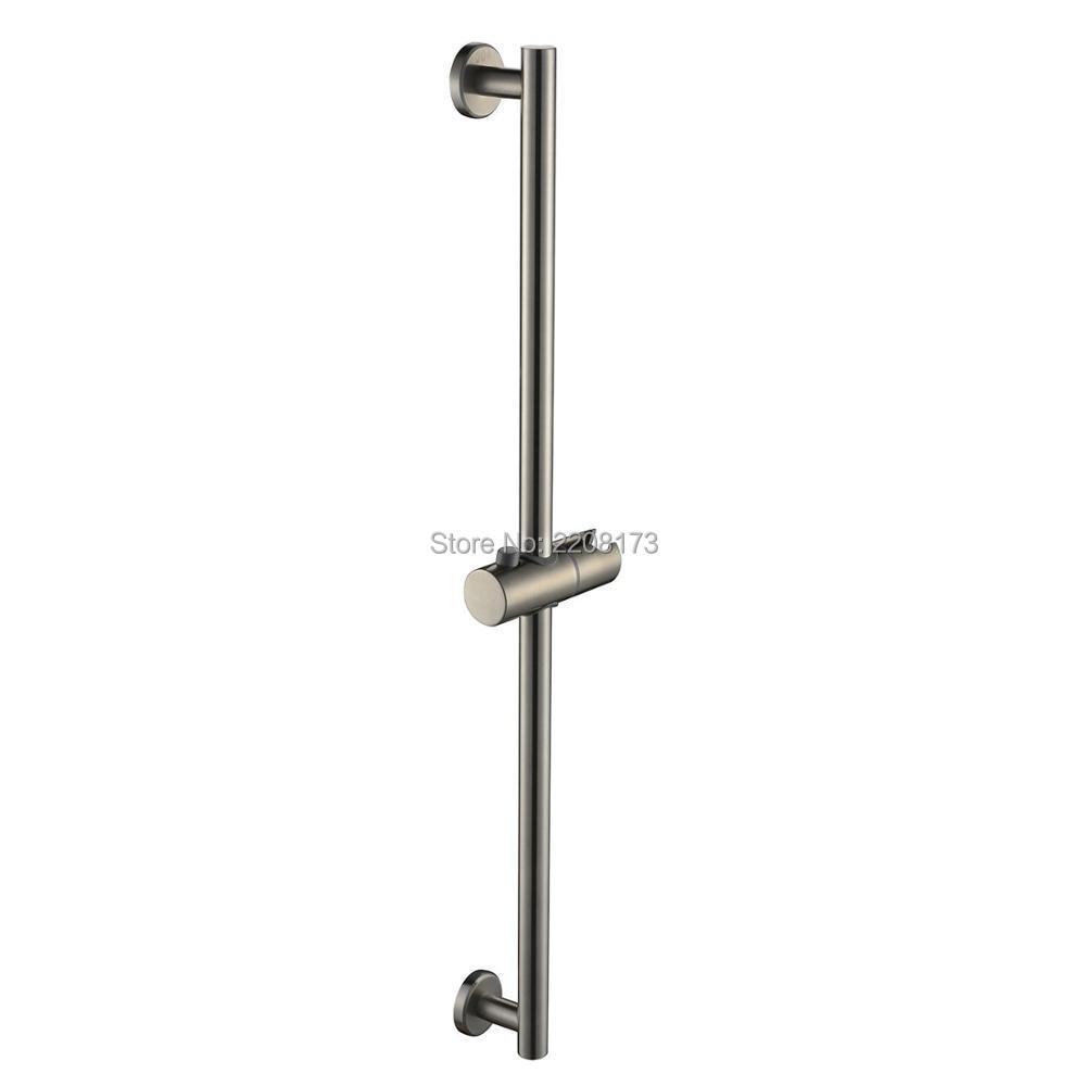 Smesiteli Qualität Promotions SUS304 Edelstahl Bad Dusche Laufleiste  Wandhalterung Gebürstetem Nickel