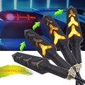 Универсальный течет мотоцикл указатели поворота светодиодные янтарные лампы Indcator мигалка для Кафе racer light bobber chopper bandit 650