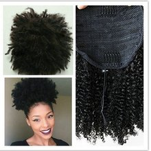 1PC Black Beauty Curly Short Afro Wigs 8cm Length Nature Black Synthetic Wig Africa Women Fluffy Ponytail(China)