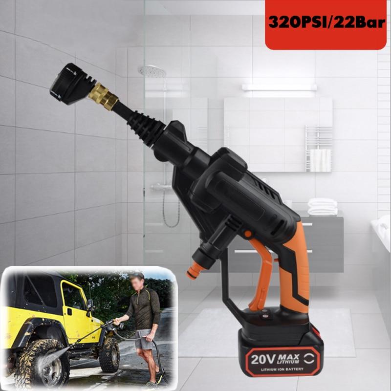 Новый 5 спрей углы литий высокие Давление шайба автомобиля Беспроводные шайба пистолет распылитель воды спрей очиститель для автомобиля до