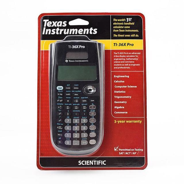 US $28 5 |Brand New Texas Instruments Calculator TI 36X Pro Scientific  Calculator necessary for SAT/ACT/AP tests 3 years warranty!!!-in  Calculators