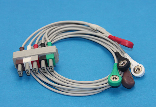 compatible m1625a ecg leads cable snap aha use for m1500a ecg trunk rh aliexpress com  snap wiring harness ebay