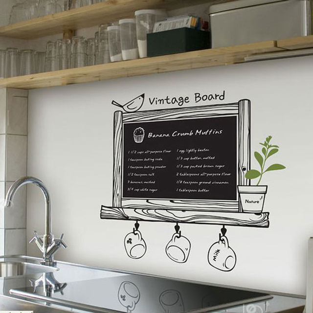 wholesale kitchen pantry storage units aliexpress com buy chalkboard free shipping via express modern blackboard removable waterproof vinyl wall sticker decor