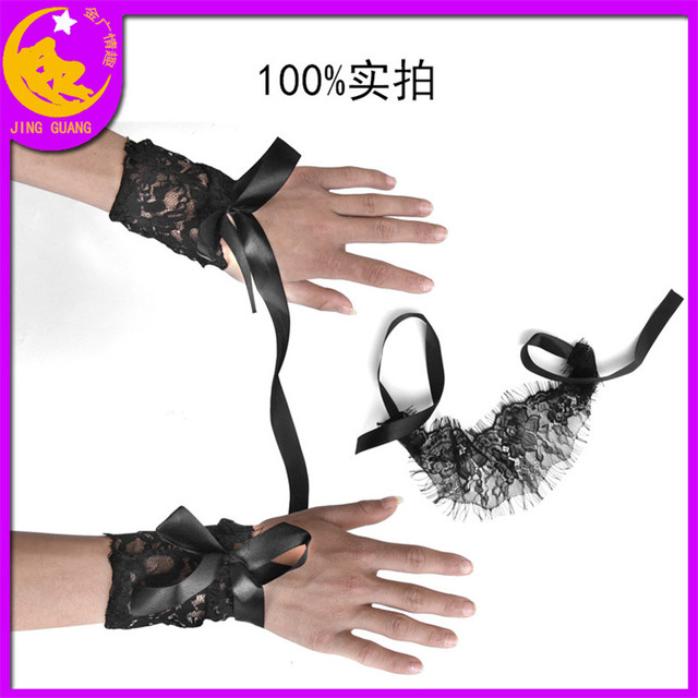 Sexy Lingerie Queen Mask Soft Padded Lace Mask Blindfolded Patch + Sex Handcuffs Sex Toys For Couples Erotic Costumes Sexy Game 5