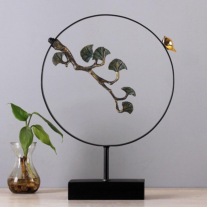 Élégant invité-salutation oiseau de pin Zen bouddhisme décoration Top Art décorations pour la maison modèle accessoires spécial décor à la maison
