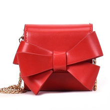 MONNET CAUTHY New Bags for Women Sweet Fashion Chic Style Mini Cute Bow Crossbody Bag Solid Color Red Yellow White Black Flap