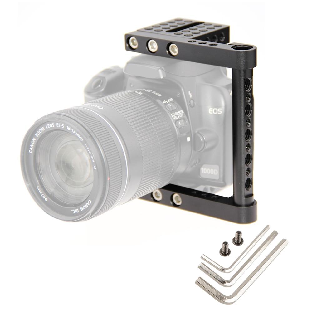 DSLR Video Camera Cage Kit Stabilizer Support Baseblate For Canon Nikon Panasonnic Steady Fotografia Accessories C1137