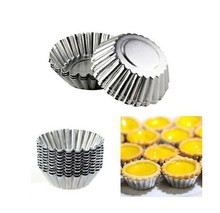 Amico Silver Tone 10 Pcs Cake Cupcake Liner Baking Cup Mold Muffin Round Cup Cake Tool Bakeware Baking Pastry Tools Kitchen