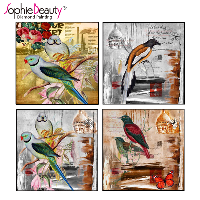 Sophie Beauty New Style Diy Diamond Painting Full Cross Stitch Embroidery Cute Bird Mosaic Kit Craft Art For Kids Gift C230