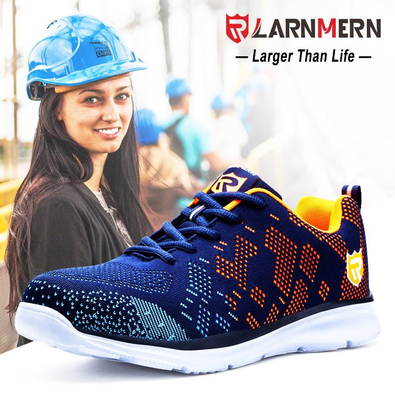 LARNMERN Women s Steel Toe Safety Work Shoes For Wonmen Lightweight Breathable Anti smashing Anti puncture