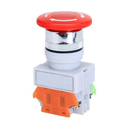 Promotion! Ui 600V Ith 10A Switch Emergency Stop push button Mushroom ac 600v 10a normal close plastic shell red sign emergency stop mushroom knob switch 22mm elevator emergency stop switch