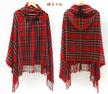 Big scarves winter scarf cashmere poncho women Bohemian Shawl Scarf Tribal Fringe Hoodies blankets Cape shawl Ponchos and Capes(China)