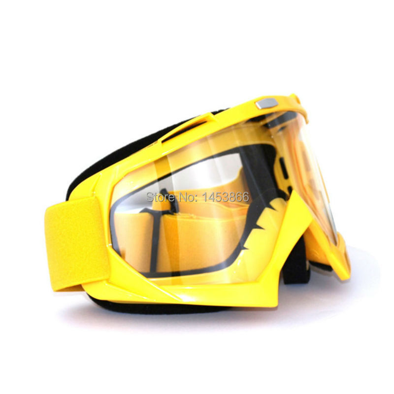 Yellow motocross motorcycle Motor ATV dirt Bike Cross goggle