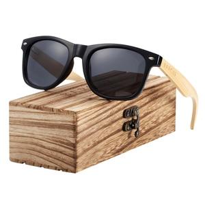 Image 4 - BARCUR עץ משקפי שמש אביב ציר בעבודת יד במבוק משקפי שמש גברים עץ שמש משקפיים נשים מקוטב Oculos דה סול masculino
