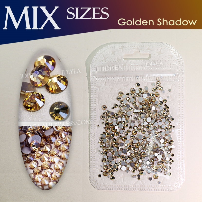 Detail Feedback Questions about Golden Shadow Mix Sizes SS3 SS16 about  500Pcs Bag 3D Nail Art Rhinestone for DIY design Non hotfix crystal glitters  strass ... bca8c0c06a3c