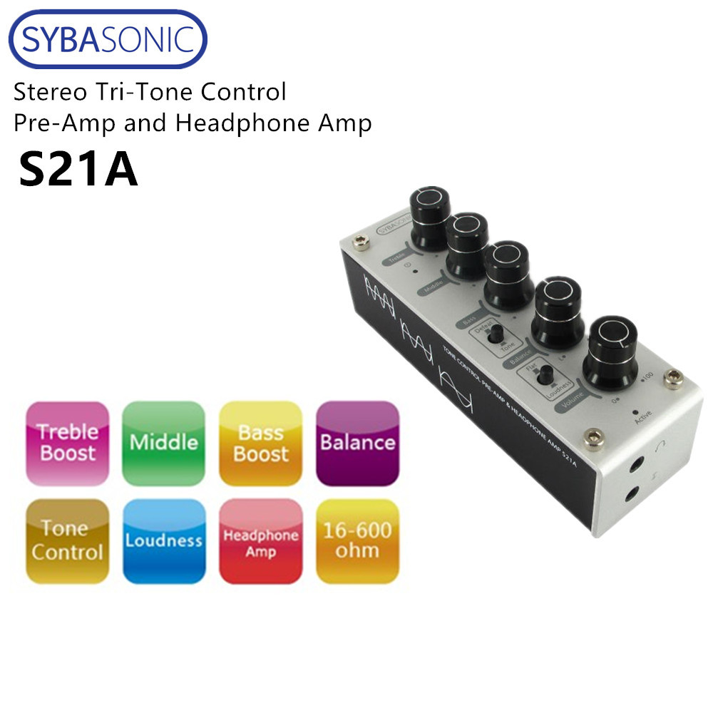 Syba Sonic Stereo Tri Tone Control Pre Amplifier And Headphone Treble In From Consumer Electronics On Alibaba Group