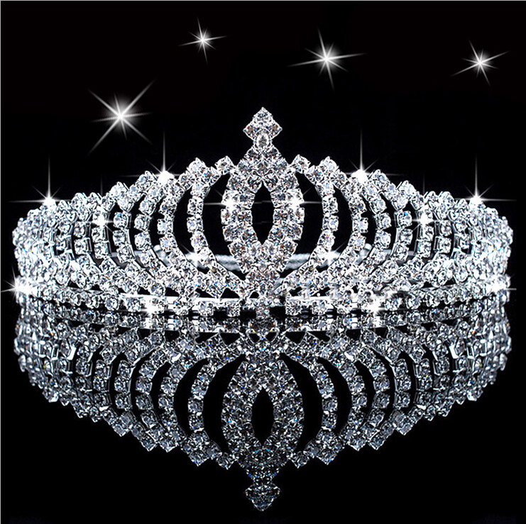 F&U 2015 New Girl Hair Band Headband Bridal Princess Stunning Crystal Tiara Wedding Crown