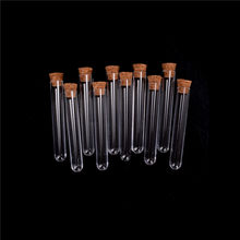 10Pcs 20ml Plastic Test Tube With Cork 15*100mm Clear Lab Experiment Favor Gift Tube Refillable Bottle(China)