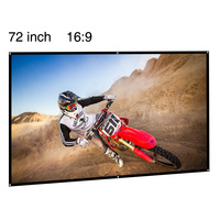 Portable Projector Screen Fabric 72 Inch Film Rear Projection Screen 16 9 Outdoor Movie Display Screen