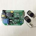 110 V/220 V AC abridor de portão deslizante placa de controle + 2 pcs controle remoto, código de aprendizagem