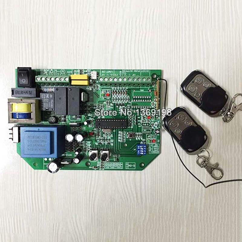 ФОТО 110V/220V AC sliding gate opener control board+2pcs remote control,learning code