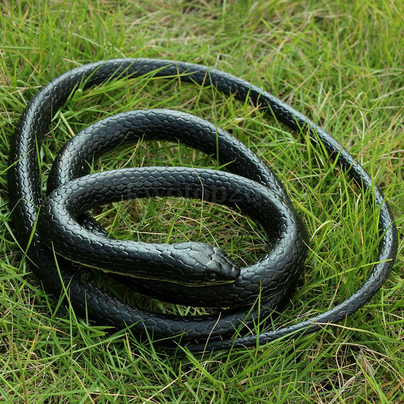 51in Realistic Soft Rubber Snake Toy Joke Prank Gift Halloween Prop hot sale