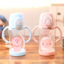 Cartoon Lovely Animal Kids Water Bottle With Straw Large Capacity High Quality Portable For Tritan BPA Free