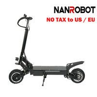 NANROBOT RS4 11 ''электрический самокат 60 В 31.2AH 3200 Вт взрослый высокое Скорость Портативный складной, съемная сиденье 55 миль/ч и 55 милях диапазон