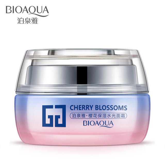 3bfad59521 US $18.26 |bioaqua Day Cream Face Care Skin Care Anti aging Anti wrinkle  Whitening Moisturizing Face Cream Cherry Blossoms -in Facial Self Tanners &  ...