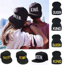 0857c23e2a5 KING QUEEN Cap With Embroidery Snapback Hip Hop Baseball Caps Man Lovers Couples  Men Women Cartoon