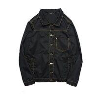 Hot! Mens Denim Áo Jacket Và Áo Khoác Hàn Quốc Thời Trang Nam Jeans Máy Bay Ném Bom Áo Khoác Nam Thương Hiệu Quần Áo Đen Trắng Nâu Quân Xanh