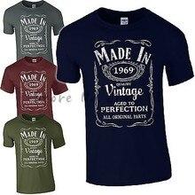 1e74119624 Nova camisa dos homens t Feita em 1969 T-Shirt Nascido 48th Ano Idade do  Aniversário Presente Engraçado Do Presente Dos Homens D..