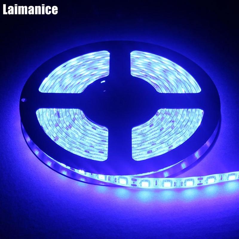 Bright 5050 Tape Light: Super Bright UV Ultraviolet Purple SMD 5050 IP65