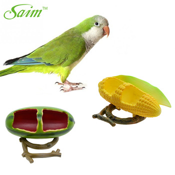 Saim Birds Feeder Parrot Birds Hamsters Feeder Food Container Plastic Corn/Pomegranate Cup Food Bowl Drinkers for Birds Cups 1