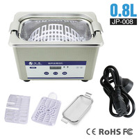 YTK 800ml Stainless Digital Ultrasonic Cleaner Bath Jewelry Metal Parts Cutters Stones Dental Toothbrush PCB Tools Sonic Cleaner