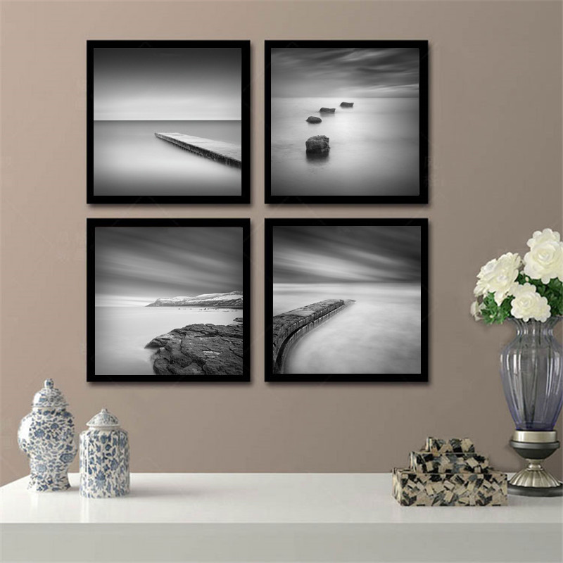 Buy minimalist black white scenery art for Home decor minimalist modern