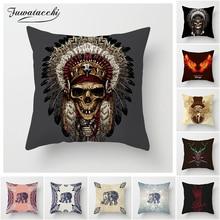 Fuwatacchi Bohemia Elephant Cushion Cover Indian Style 45x45cm Affection Animal Home Decorative Pillow for Sofa Luxury New