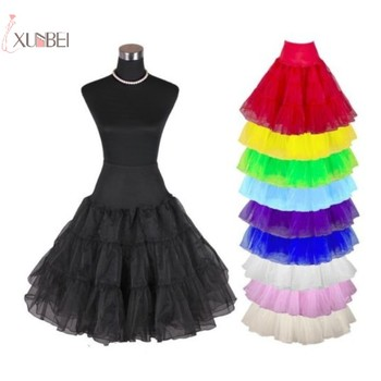 New Short 50s Vintage Bridal Wedding Dress Petticoat Crinoline Rockabilly Tutu Tulle Skirt Underskirt Accessories