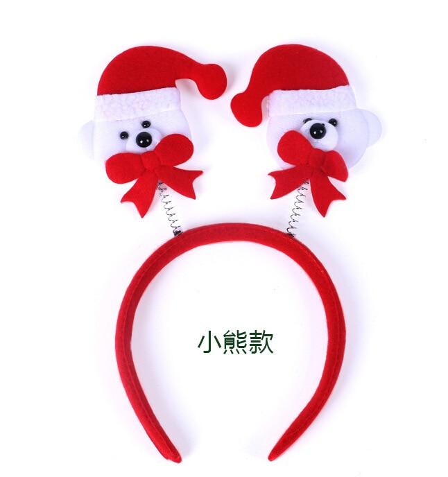 Kids Christmas Hair Bands Accessories Elk Snowman Santa Antlers Cartoon Headband Holiday Decoration Supplies In Headbands From Home