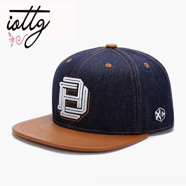 0d880ce0 IOTTG New Men Cap Flat Brim Cotton Baseball Cap Men Women Bone Letters  Embroidery Hats Sport