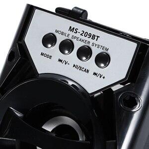 Image 4 - Heißer Tragbare Ms 209Bt Karte Wireless Bluetooth Lautsprecher Fm Radio Outdoor Lautsprecher Audio High Power Tf Usb Musik Lautsprecher