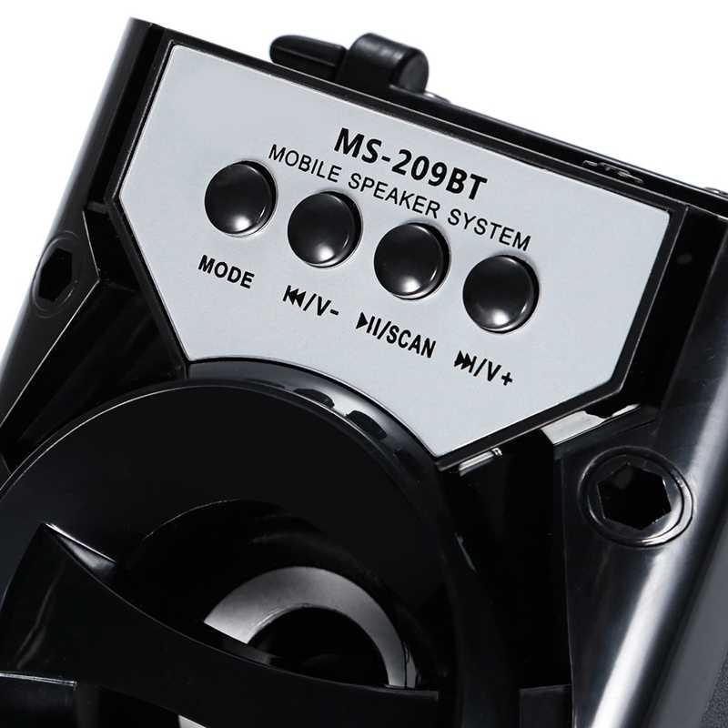 Популярный портативный беспроводной bluetooth-динамик с Ms-209Bt картой, fm-радио, динамик для улицы, аудио, высокая мощность, Tf, Usb, музыкальный динамик s