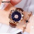 Sanda вращающиеся женские часы со стразами  женские часы со стразами  роскошные Брендовые женские часы с кристаллами  кварцевые часы  модные в...