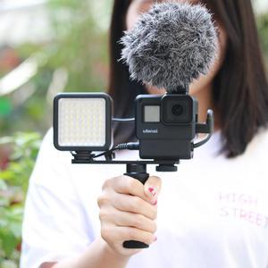 Image 5 - ULANZI V2 Pro GoPro vlog boîtier boîtier Cage cadre w Microphone froid chaussure support + 52mm ND filtre anneau adaptateur pour GoPro 7/6/5