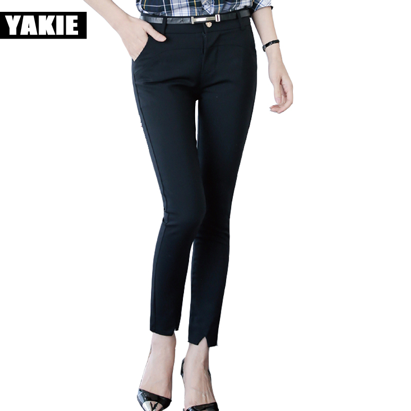 Formal Style Pencil Pants S XXL All Match High Waist Women Trousers Slim Big Size Pantalon 2017 ...
